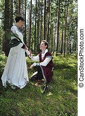 Wedding - Princess bride and her knight / wedding