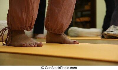 Yoga - Training by yoga in a gym