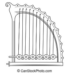 antique Greek Lyra - vector