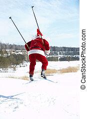 Santa on skies