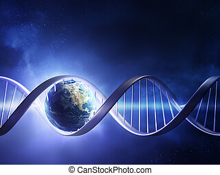 encendido, tierra, ADN, hebra
