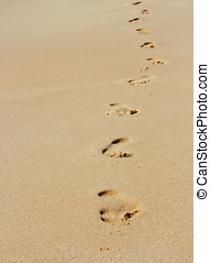 footsteps in sand - Footsteps in the sand.