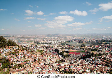 Antananarivo - Aerial view of Antananarivo capital city of...