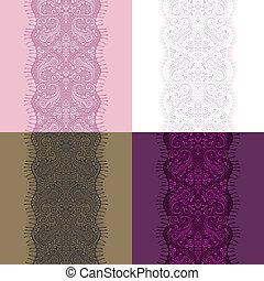 paisley pattern - lace ribbon seamless paisley pattern