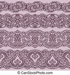 four standards of lace ribbon seaml - lace pattern
