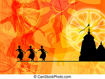 heritage of India - the picture depicts the wonderful fusion...