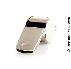 Metal coaches or referees whistle