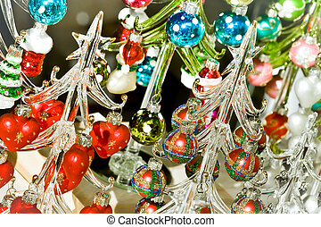 christmas decorations - decorative christmas abstract of...
