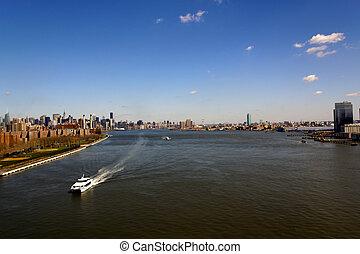 New York City East River Panorama