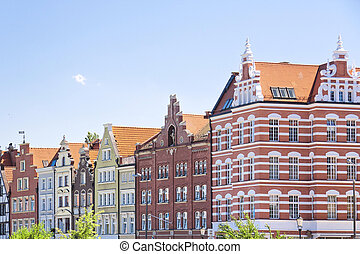 Famous cities in Poland - Gdansk - Danzig. - Port city at...