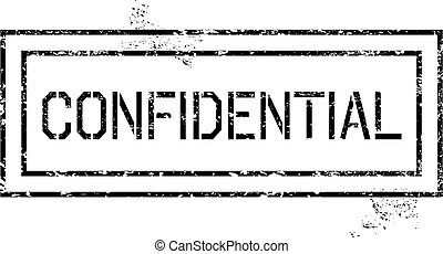 Confidential - Rubber stamp - grungy illustration with text...