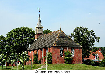 Dutch Reformed Church of the Dutch village of Zoutkamp - The...