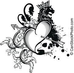 heraldic heart arrows crest5 - heraldic heart arrows crest...