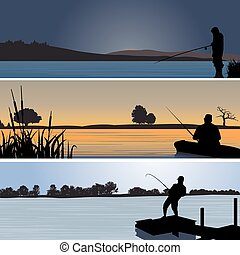 Fishing. Vector illustration for you design
