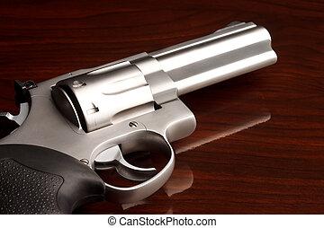 fim,  revólver