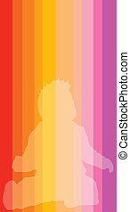 baby silhouette on color background