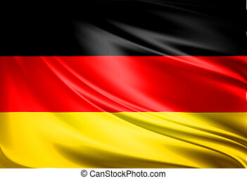 Flag of Germany. Close up. Front view.
