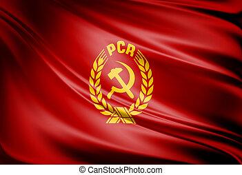 PCR flag - Comunist PCR red flag