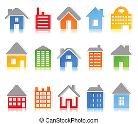 House3 - Set of icons of houses. A vector illustration