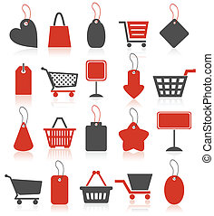 Icon sale2 - Set of icons on a theme sale and shop A vector...