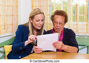 grandchild and grandmother. contract, will - a grandchild...