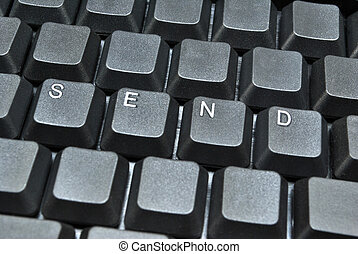 Send written on computer keyboard