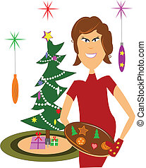 christmas cookies - mom ready to serve fresh cookies at...