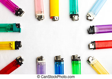 Lighters Variety - Colorful assortment of disposable...