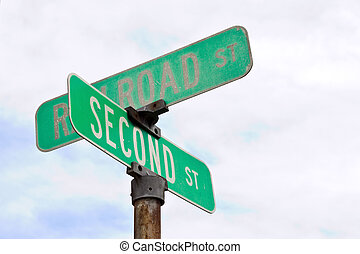 Street Sign Intersection - Intersection street sign on the...