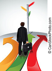 Business concept - A vector illustration of a business...