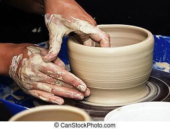 cer㢭icas, feito à mão