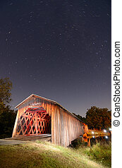 Watson Mill Bridge Est. 1885 at Watson Mill State Park in...