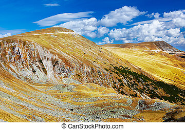 Landscape with Parang mountains in Romania - Landscape of...