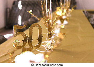 50th Anniversery - Decorated table at a 50th wedding...