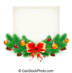 Christmas frame - illustration of Christmas decorative frame...