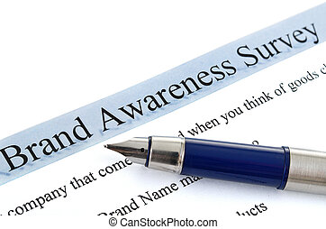 survey form and pen - survey form brand awareness survey