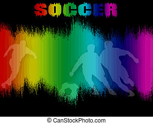 Poster with soccer players