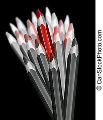 Pencils leader metaphor