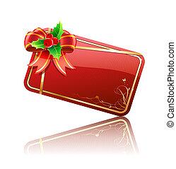 Christmas gift card - illustration of cool Christmas...
