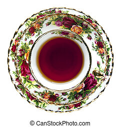 English China Tea Cup - Tea in English fine bone china...