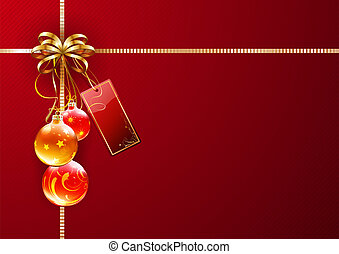 Christmas decorations - illustration of shiny gift wrapping...