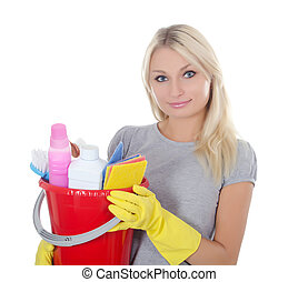 Portrait of the girl - concept Cleaning - The portrait of...