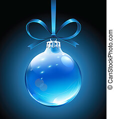 Christmas decorations - Vector illustration of cool blue...