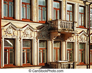 old building - facade of old building