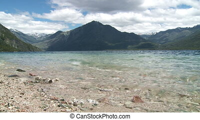 Lake quot;Lago Epuyenquot;, Argentina - View of mountain...
