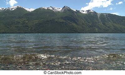 """Lago Epuyen, Argentina - View of mountain lake """"Lago..."""