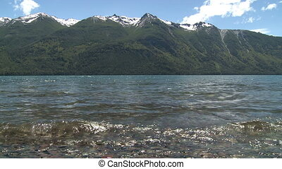 Lago Epuyen, Argentina - View of mountain lake Lago Epuyen...
