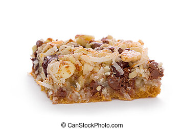 Seven Layer Bar - Seven layer bar made with a graham cracker...