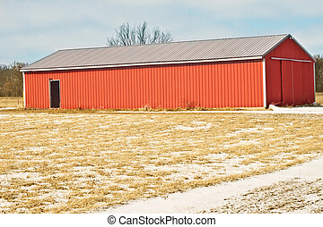 Full Red Barn