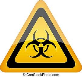 Biohazard vector sign